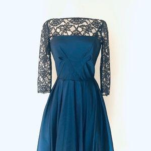 Lace and Taffeta Formal Dress, Size 8